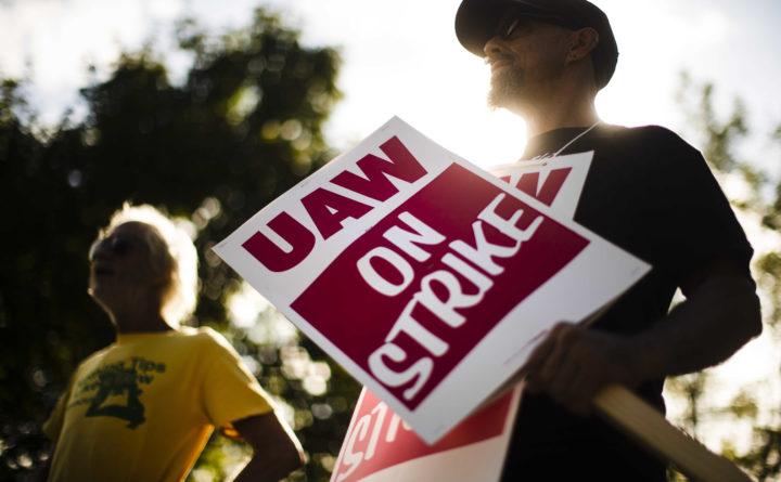General Motors Auto Workers Go On Strike