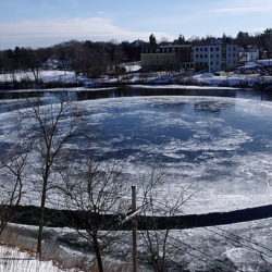 Coming around again: Famous ice disc seems to be re-forming