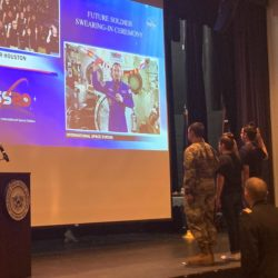 Astronaut swears 3 Aroostook County high schoolers in to the military
