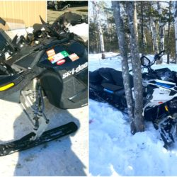 Two die in separate snowmobile crashes on Friday