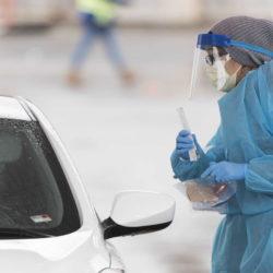 Drive-thru coronavirus testing site opens in York
