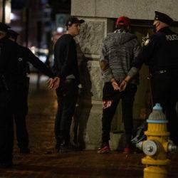 10 arrested after confrontation outside Portland police station