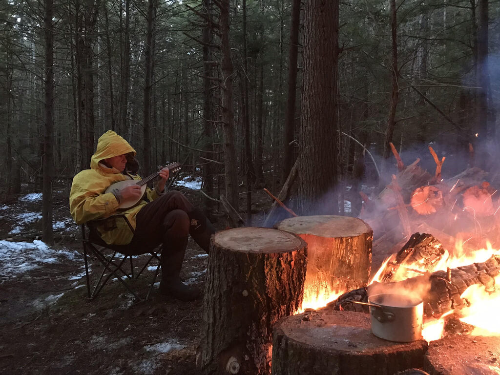 You don't have to freeze when winter camping in Maine